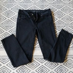 American Eagle black denim skinny jean 10 regular